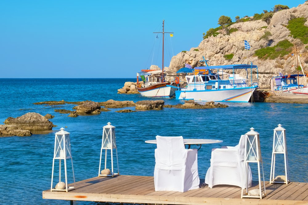 Cafe at Kolymbia. Rhodes, Greece